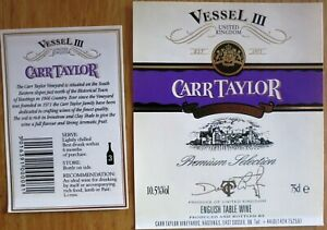 Etiquettes vin UNITED KINGDOM CARR TAYLOR Vessel III English Table Wine  Labels