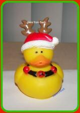 REINDEER~~  HOLIDAY/CHRISTMAS RUBBER DUCK~~Decoration~Treat~Favor~Gift~~NEW