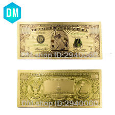 American One Million Dollar 24k Gold Banknote Decorative Gold Foil Paper Money