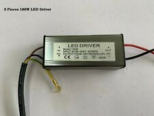 3pcs 100W LED Driver Power Supply Transformer AC 85-265V Waterproof IP65