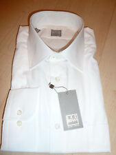 NEW $250 IKE BEHAR Mens Dress SHIRT 16.5 34 35 white Made in USA Cotton BC GOLDf