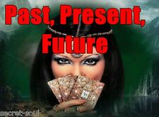 """3 Card Tarot """"Past, Present & Future"""" Message...comes with lucky healing Crystal"""