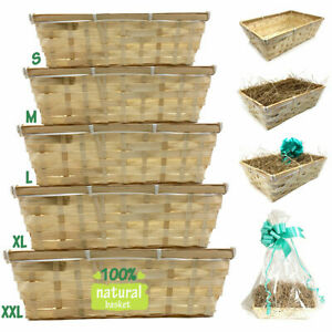 DIY Make Your Own Hamper Wicker Gift Basket Box Kit with Shred+Cellophane+Bow