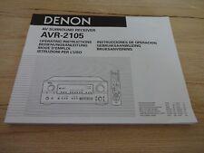 Originale denon Mode D 'em Ploi AVR-2105 Bon État