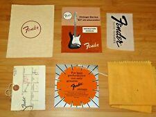 Fender 1988 USA American Vintage 57 Manual Cloth & Tags Paperwork