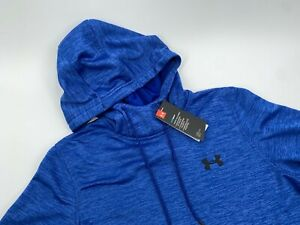 Under armour UA Coldgear Loose Golf Gym Running Hoodie Blue Pullover Mens Small