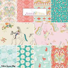 Bari J Anna Elise PRIMROSE BELLE Fat Quarters 10 Precut Fabric Quilting FQs