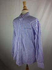Southern Tide Skipjack Button-Front L/S Shirt Small Blue White Pink Stripe