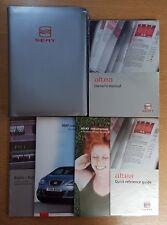GENUINE SEAT ALTEA HANDBOOK OWNERS MANUAL WALLET 2004-2009 PACK D-970