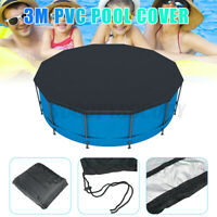 10 Foot Round Above Ground Swimming Pool Winter Cover for Yard Garden Outdoor US