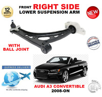 FOR AUDI A3 CABRIO 2008-> FRONT LOWER RIGHT WISHBONE SUSPENSION ARM + BALL JOINT