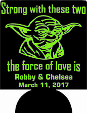 Yoda star wars wedding favors can coolers the force of love SP1322