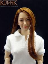 KUMIK KM005 1/6 Girl Female Head Sculpt Custom Fit ThreeA Hot Toys Phicen Toy