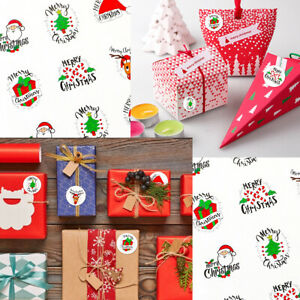Christmas self adhesive packaging box sealed with Gift Bag party sticker~