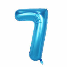 """40"""" Giant Blue Seven Year Old Baby First Birthday 7 Month Number Float Balloon"""