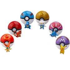 6pcs Pokemon pikachu Pokeball Cosplay Pop-up Meister Großes Ultra GS Poke BALL