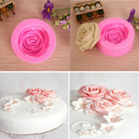 48mm 3D Rose Flower Fondant Cake Chocolate Sugarcraft . Silicone Mould Mold H1L4