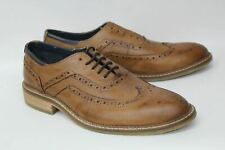 GOODWIN SMITH Men's Barley Oxford Lace Up Brogue Leather Shoes Tan UK8 BNIB