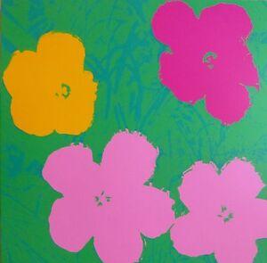 ANDY WARHOL POPPY FLOWERS SUNDAY B.MORNING SILK-SCREEN 11.68 COA