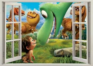 The Good Dinosaur Dino Animals 3d Window Wall View Sticker Poster Vinyl Art 48