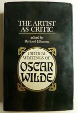 Critical writings of oscar wilde, oscar wilde, littérature,
