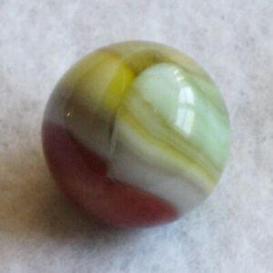 "Vitro Agate Marble Tri-Lite Elite Buttermilk Marbles .59"" MINT"