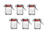 6x Classic Clip Top Airtight Seal Food Spice Storage Preserve Glass Jars 70ml