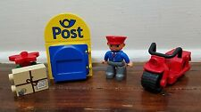 Lego Duplo #5638 POST OFFICE MAIL BOX MOTORCYCLE MAILMAN FIGURE