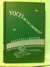 Rare ..Vintage  VOCES De Las Americas by Kaulfers & Blayne (1947)