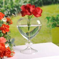 Glas Blumentöpfe Pflanzgefäß Herz Glas Vase Stehend Heim Tisch Dekoration Vase