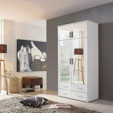 Kleiderschrank Kemi Schrank Drehtürenschrank Schlafzimmer weiß mit Spiegel 92