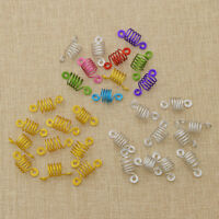 Unisex Fashion Spiral Shape Hair Braid Dread Dreadlock Beads Cuffs Clips 10pcs