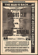 MUHAMMAD ALI_vs_OSCAR BONAVENA__Original 1970 Trade print AD promo__Fight Poster