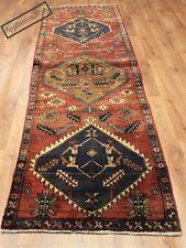 Persian Traditional Vintage Wool 290cmX82cm Oriental Rug Handmade Carpet Rugs
