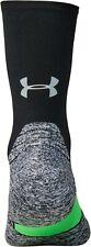Under Armour 1331200 001 Mens Sz L Black Calf Length Cushion Running Socks