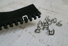 YKK Zipper Top Stops - #10 Chunky Zip - Stainless Steel - 8 Pack - Stops Sliders