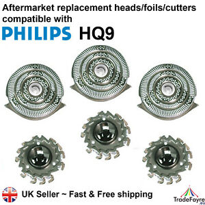 AFTERMARKET HQ9 SHAVER HEADS COMPATIBLE WITH PHILIPS FOILS/CUTTERS