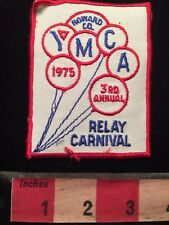 Vtg 1975 Howard County YMCA Swim Patch - Relay Carnival - Balloons 79WI