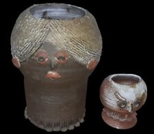 Rare paire sculpture de Thérèse Bataille Dour ceramique belgique vallauris XX