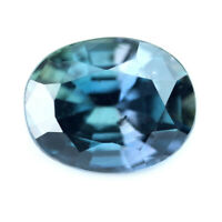 Certified Natural Unheated Color Change Sapphire 0.93ct VS Madagascar 6x4mm Oval