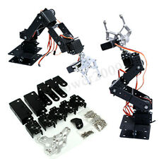 6 DOF 47cm Aluminium Mechanical Robotic Arm Clamp Claw Mount Robot Kit Black //