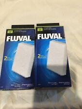 Fluval U2 Fish Turtle Tank Filter Foam Pad 2 pk 4 filters Total #A486 Free Ship