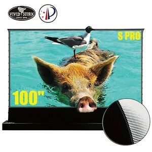 "VIVIDSTORM S PRO 100"" Electric Tension Floor UST ALR Projection Screen Motorized"