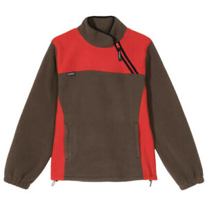NEW stussy DRIFT DIAGONAL ZIP PULLOVER TOMATO Size:XS BNWT Fast Delivery