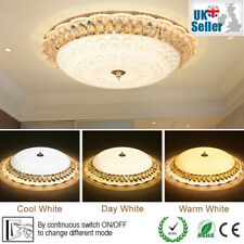 3 Colours 50cm Diameter LED Flush Ceiling Light Outside Bubble Acrylic Crystal