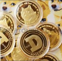 1X Dogecoin(DOGE) CryptoCoin Gold Plated- Doge Collective Gold Plated