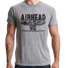 Air-Cooled BMW Motorcycles Boxer Beemers Airheads Distressed Print Grey T-Shirt