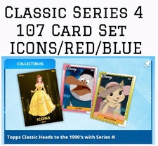 CLASSIC SERIES 4 SET-107 CARDS-ICONS+RED+BLUE-1990-TOPPS DISNEY COLLECT DIGITAL