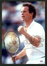 John McEnroe Tennis Hall Of Famer Signed Autographed 9.5 x 14 Photo - PSA COA