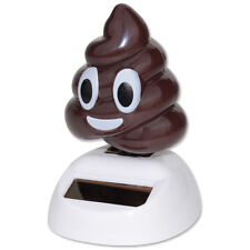 Emoji Poop Solar Powered Waving Toy Gift Home Decor USA Seller